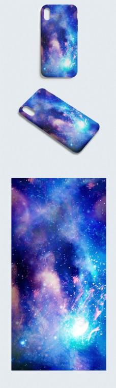 原创手绘大气科技灵动唯美宇宙空间手机壳