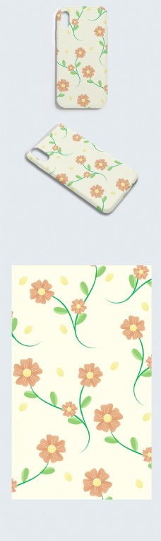 创意小清新文艺花朵手机壳
