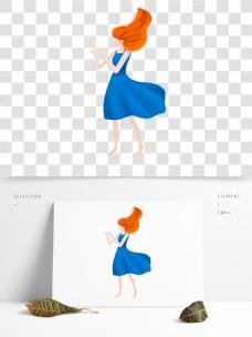 卡通手绘时尚女孩免抠元素