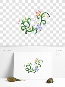 可商用手绘卡通花藤设计元素