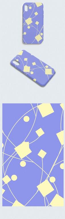 创意几何蓝色手机壳包装