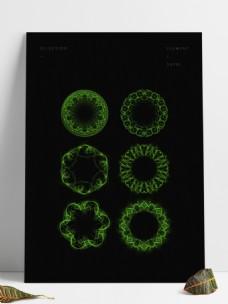 绿色炫光光圈素材