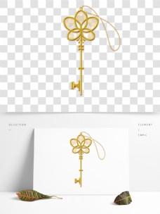 手绘金属钥匙元素