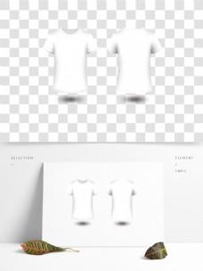 矢量微立体简单白色T恤