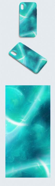 原创大气炫彩光效科技未来空间手机壳