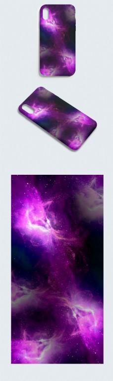 原创紫色唯美能量星空镜面炫彩手机壳