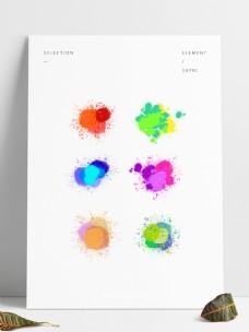 彩色水墨爆炸笔触涂鸦水彩