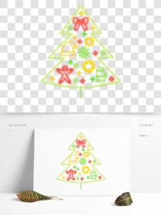 炫彩霓虹灯圣诞节装饰