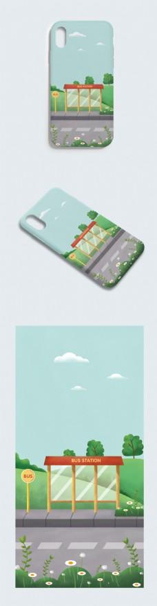 原创小清新插画手机壳