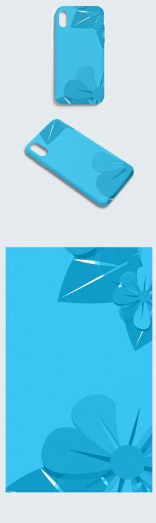 简洁大方蓝色背景手机壳