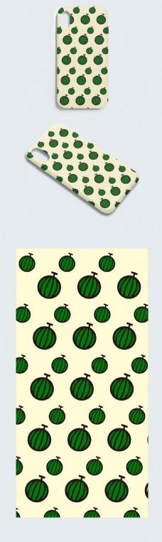 原创绿色抽象西瓜手机壳设计