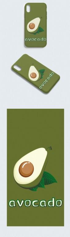 原创潮流时尚牛油果手机壳