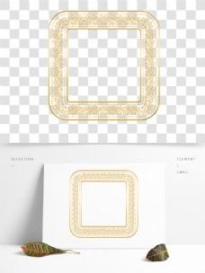 方形手绘欧式金属金色边框